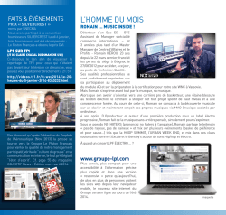 Newsletter N°14 - Avril 2014