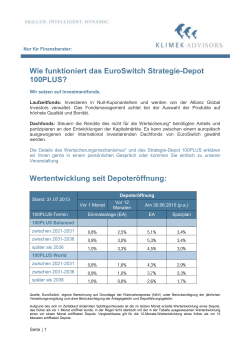 Wie funktioniert das EuroSwitch Strategie-Depot 100PLUS