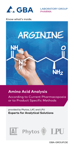 Amino Acid Analysis - GBA