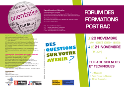 FORUM DES FORMATIONS POST BAC