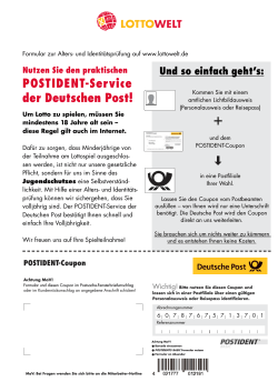 Download POSTIDENT-Formular - Lottowelt.de