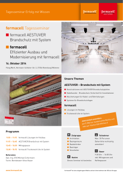 Download Flyer fermacell Tagesseminar