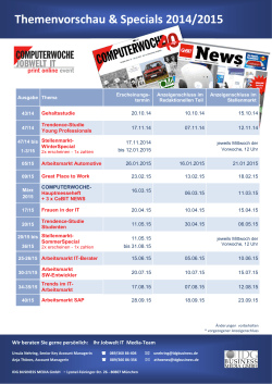 Themenvorschau & Specials 2014/2015 - IDG Business Media