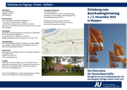 Einladung downloaden - JU BDT 2014 in Meppen