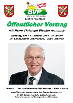 SVP Sektion Ferenbalm - Christoph Blocher