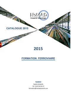 FORMATION FERROVIAIRE CATALOGUE 2014