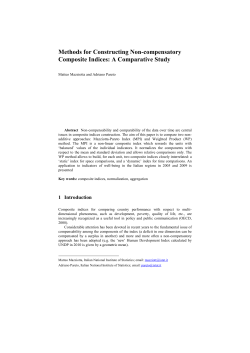 Methods for Constructing Non-compensatory Composite Indices: A