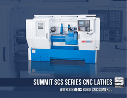 Summit sCs series cnc Lathes