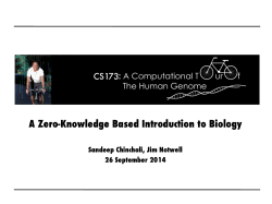 Introductory Biology Primer - CS273a