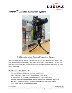 LUXIMA LUX1310 Evaluation System