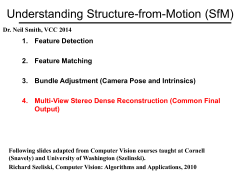 Understanding Structure-from-Motion (SfM) - VCC