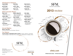2013 SFM annual review