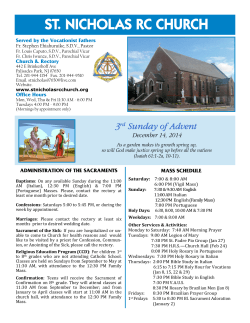 Bulletin of 12/14/14 - St. Nicholas RC Church