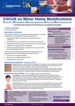 FOCUS on Minor Home Modifications