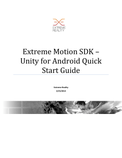 Extreme Motion SDK – Unity for Android Quick