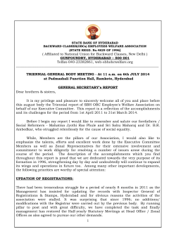general secretary reort on 06.07.2014