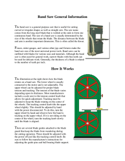 Band Saw Band Saw General Information How It Works