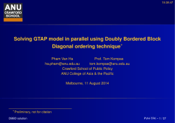 Solving GTAP model in parallel using Doubly Bordered Block