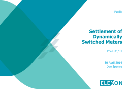 Settlement of Dynamically Switched Meters