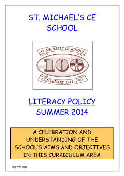 Literacy Policy 2014 - St Michaels C.E Primary School