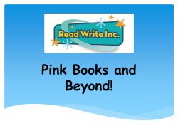 Pink Books and Beyond! - Little Thurrock Primary School