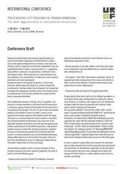 INTERNATIONAL CONFERENCE Conference Draft