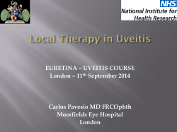 EURETINA – UVEITIS COURSE London – 11th September 2014