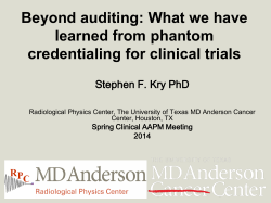 What we have learned from phantom credentialing for clinical trials