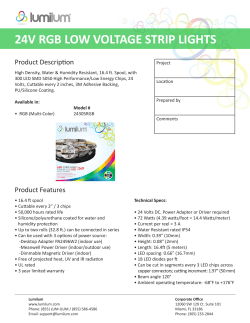 24V RGB LOW VOLTAGE STRIP LIGHTS