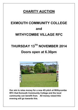 CHARITY AUCTION EXMOUTH COMMUNITY COLLEGE and
