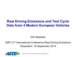 Clean Air and RDE Workshop - Association for Emissions Control by