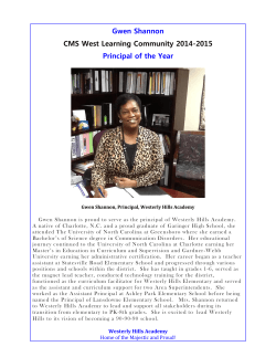 Gwen Shannon CMS West Learning Community 2014-2015