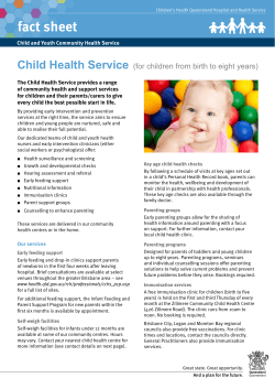 Child Health Service Fact Sheet