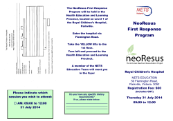 NeoResus First Response Program