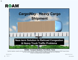 CargoWay™ Solutions - Roam Transport Systems