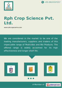 Corporate Brochure - Rph Crop Science Pvt. Ltd.