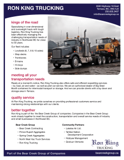 Download the Ron King Trucking business profile