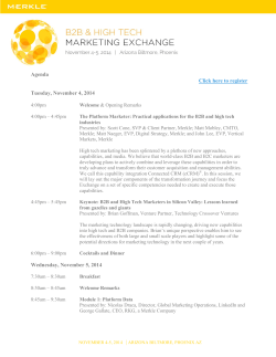 Agenda Click here to register Tuesday, November 4, 2014