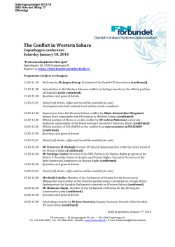 The Conflict in Western Sahara