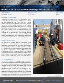 Standard FLS – Qatar - Scientific Drilling