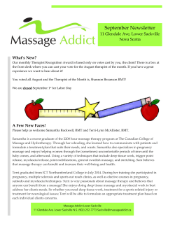 September 2014 - Massage Addict
