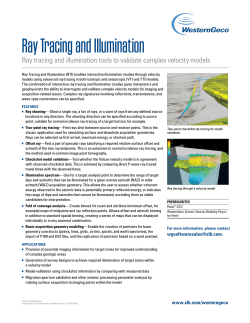 Ray Tracing and Illumination - Schlumberger Information Solutions
