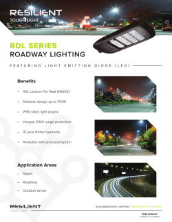 RDL SERIES - Resilient Lighting
