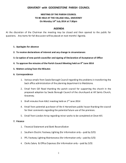GRAVENEY with GOODNESTONE PARISH COUNCIL AGENDA