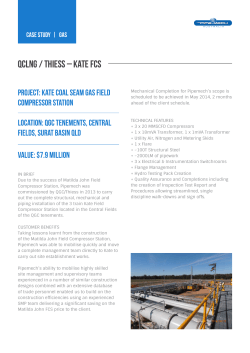 QCLNG / THIESS – kate FCS