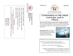 April Newsletter 2014x - New Colony Baptist Church