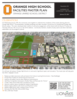 OHS Facilities Master Plan - Orange Unified School District