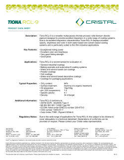 Tiona RCL-9 is a versatile multipurpose chloride-process