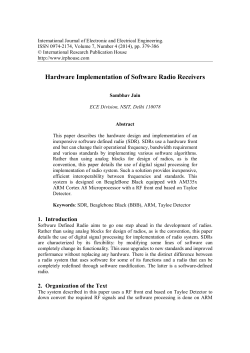 Hardware Implementation of Software Radio Receivers