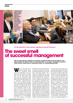 The sweet smell of successful management